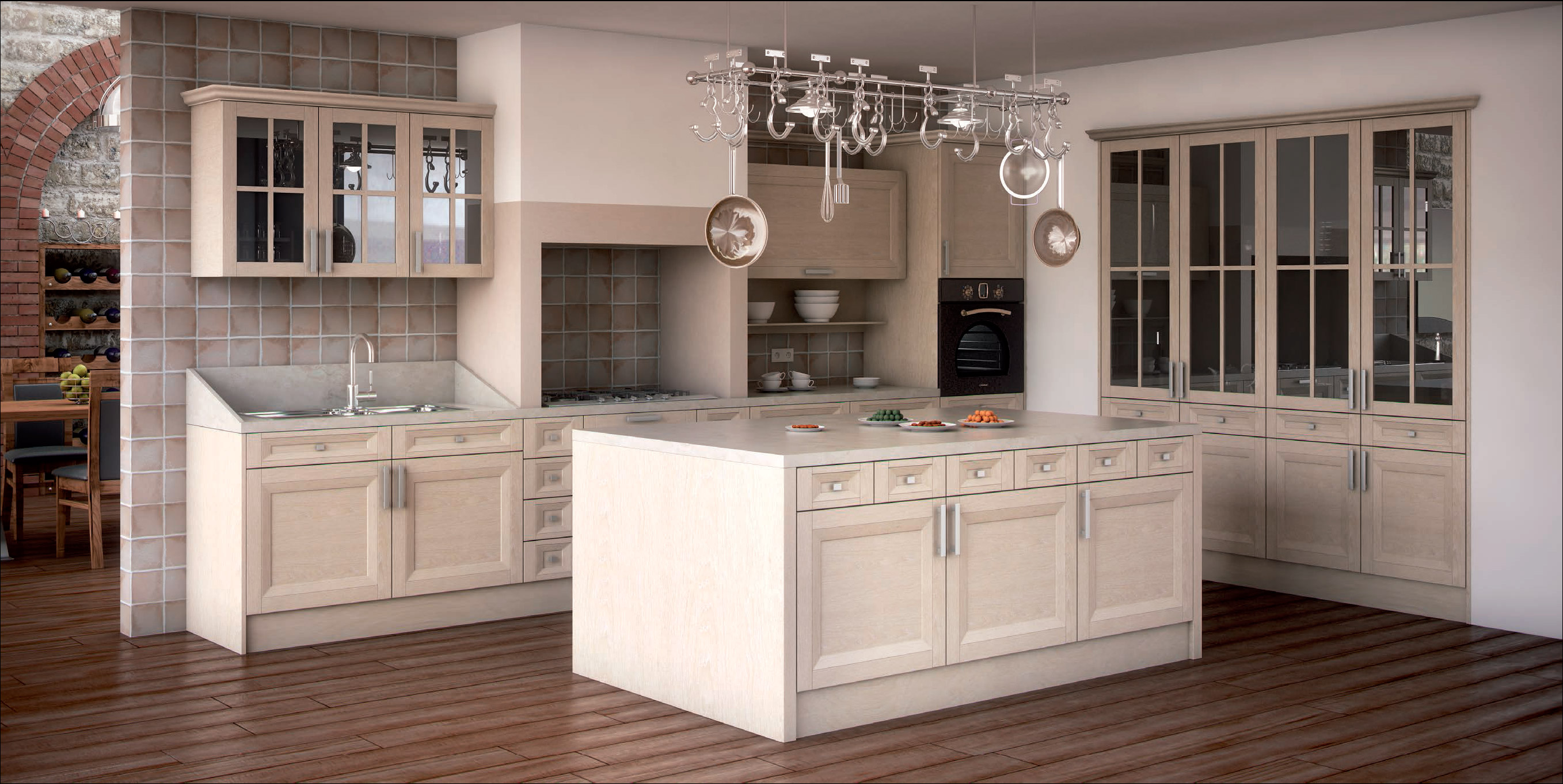 Fotos de cocinas de madera perfect atajos cocinas with for Poner muebles de cocina